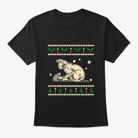 Christmas Don Sphynx Gift Black T-Shirt Front