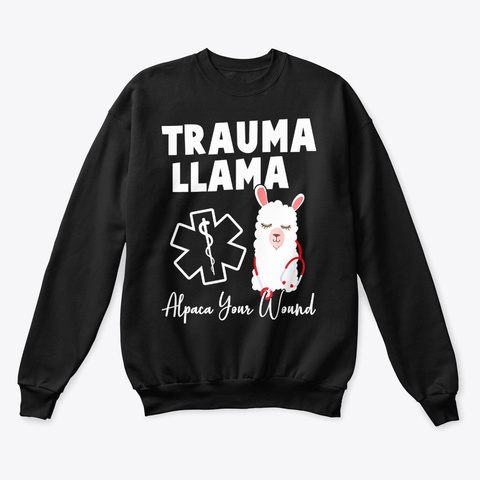 Llama Lover Gift T Shirt Black T-Shirt Front