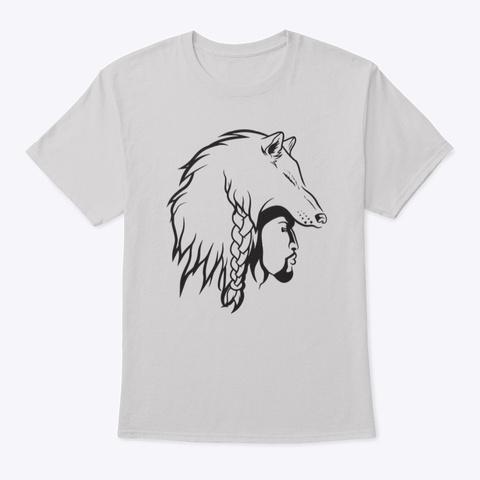 Bare Wulf Head Shirts Light Steel T-Shirt Front