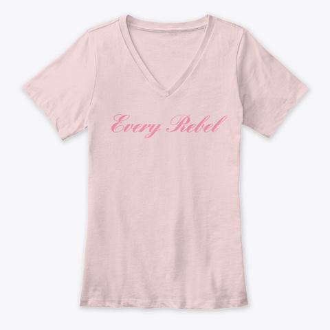 Woman's Premium V Neck Pink T-Shirt Front