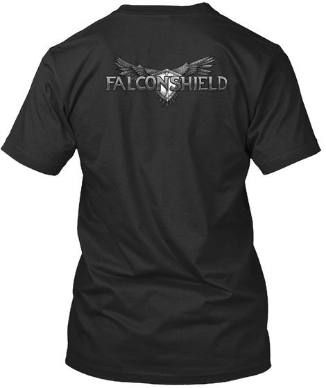 Falconshield Black T-Shirt Back
