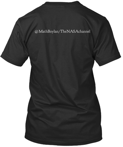 @Mathboylan Thenasachannel Black T-Shirt Back