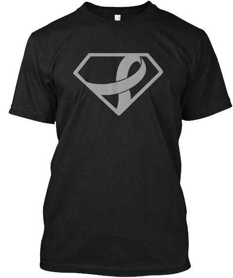 Brain Cancer Super Girl Black T-Shirt Front