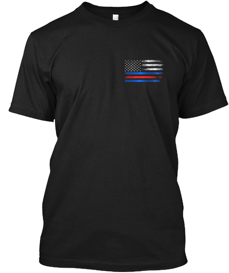 First Responders: No One Fights Alone Black T-Shirt Front