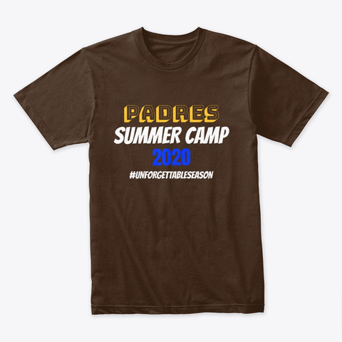 Padres Summer Camp Unforgettable Season Dark Chocolate Camiseta Front
