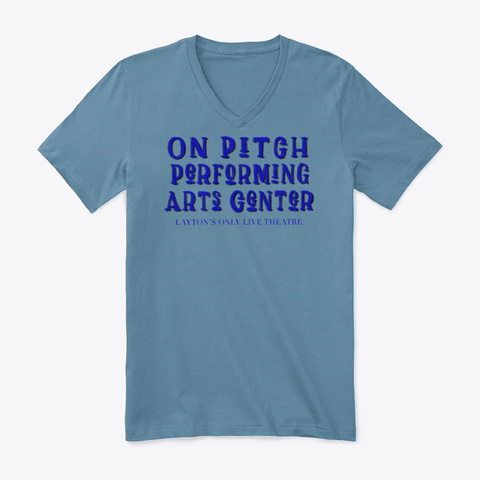 On Pitch Performing Arts Steel Blue T-Shirt Front
