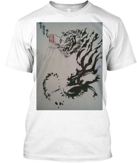 Unscarred Clothing Tiger Graphic Tee White T-Shirt Front