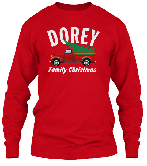 Dorey Family Christmas Red T-Shirt Front