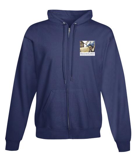 Histori Corps Full Zip Sweatshirt Navy Sweatshirt Front