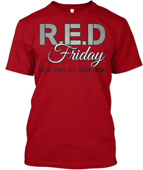 Support Our Troops / Honor Our Veterans! Deep Red T-Shirt Front