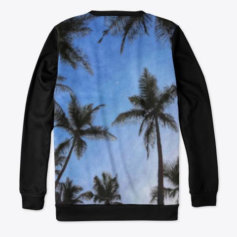 🌛Palm Trees Black T-Shirt Back
