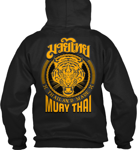 Thailand Made Muay Thai Black T-Shirt Back