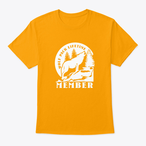 Wolf Pack Lifetime Member Gold T-Shirt Front