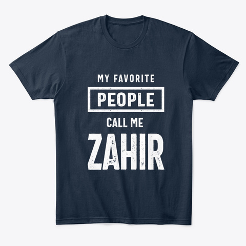 Gift For Zahir First Name T Shirt New Navy áo T-Shirt Front