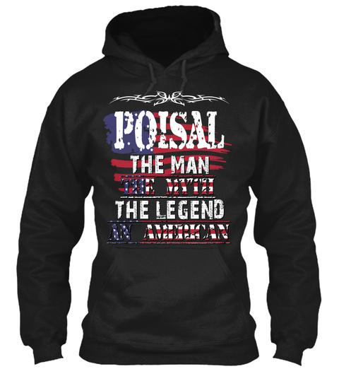 Poisal  Black T-Shirt Front
