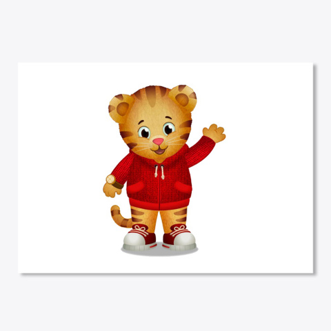 Daniel Tiger White T-Shirt Front