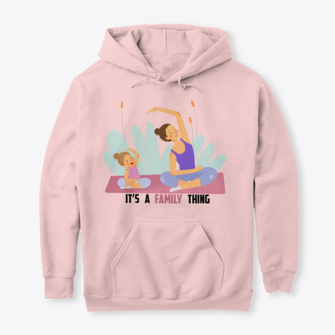 Mom And Daughter Yoga Light Pink T-Shirt Front