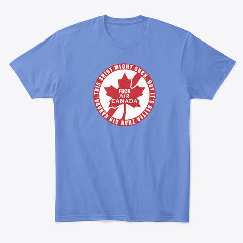 F* Air Canada Heathered Royal  T-Shirt Front