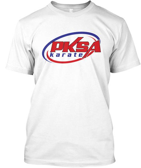 Pksa Karate White T-Shirt Front