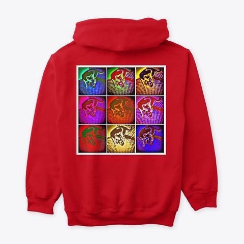 Jimmyinspaz Zz Logo Pop Art Red Sweatshirt Back