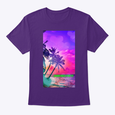 Cheddar Makes Life Better Palm Purple T-Shirt Front