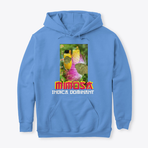 Jimmyinspaz Zz 'mimosa' Cannabis Gear Carolina Blue Sweatshirt Front