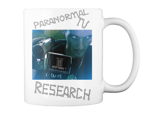 Paranormal Research White T-Shirt Back