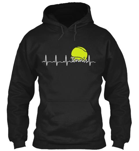 Tennis  Black T-Shirt Front