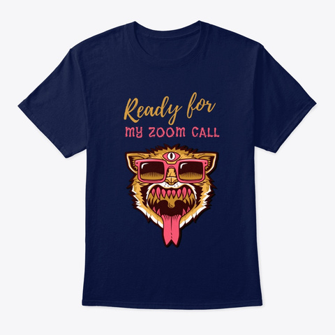 The Big Cat Zoomer  Navy T-Shirt Front
