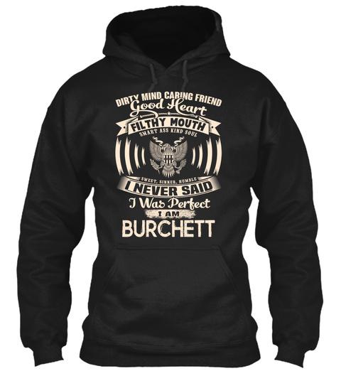 Burchett Name Perfect Black T-Shirt Front
