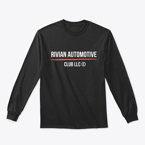 Rivian Automotive Club Fall Clothing Black T-Shirt Front