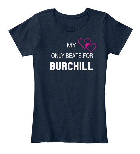 My Only Beats For Burchill New Navy T-Shirt Front