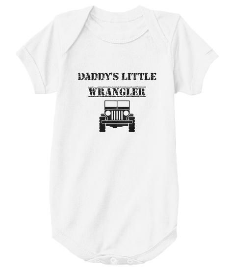 Daddy's Little Wrangler White T-Shirt Front