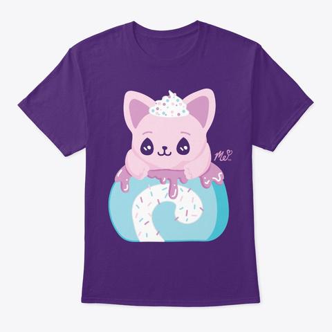 Cat Roll Purple T-Shirt Front