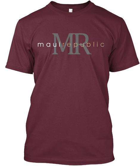 Mauirepublic ® Classic Logo Maroon T-Shirt Front