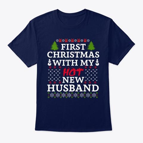 Funny Holiday Christmas Santa Tee Navy T-Shirt Front