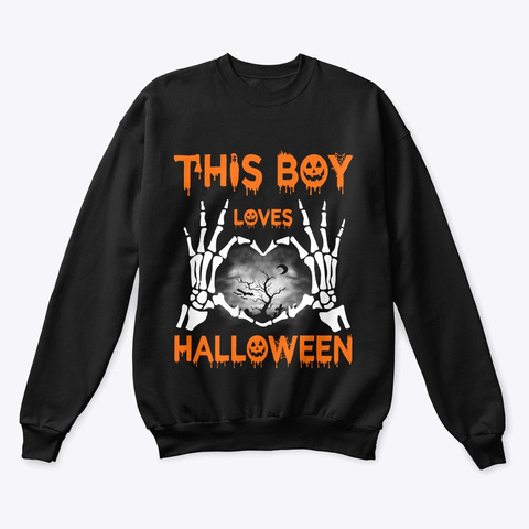 This Boy Loves Halloween 2019 Black T-Shirt Front