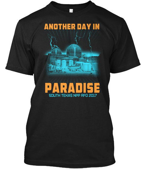 Another Day In Paradise South Texas Npp Rfd 2017 Black T-Shirt Front