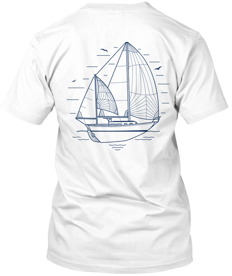 Atticus Crew   Allied Seawind 30 White T-Shirt Back