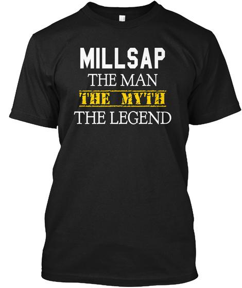Millsap The Man The Myth The Legend Black T-Shirt Front
