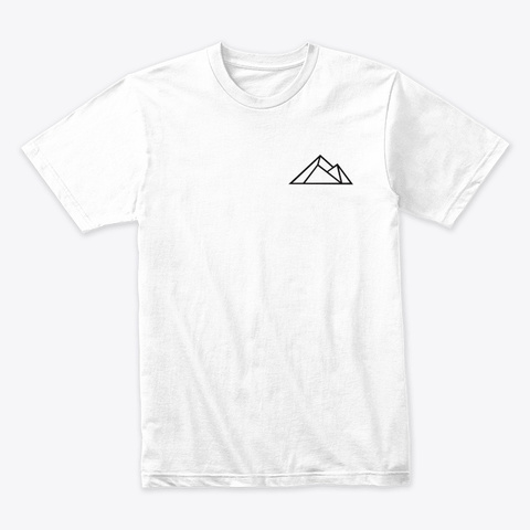 Mountains White T-Shirt Front