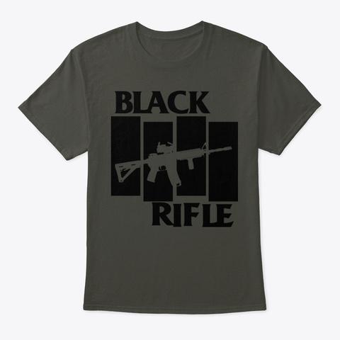 Black Rifle Smoke Gray T-Shirt Front