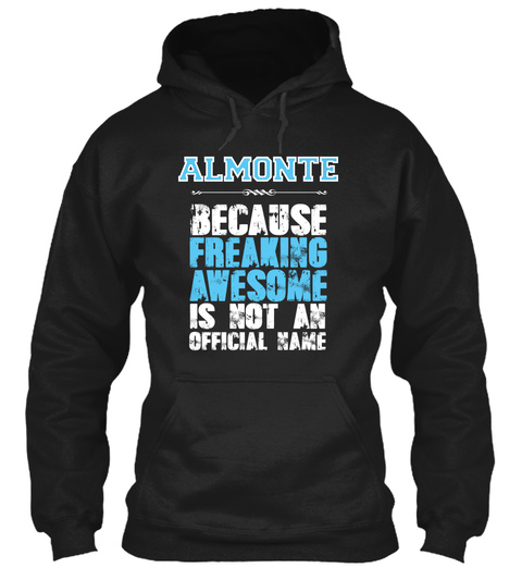Almonte Is Awesome T Shirt Black T-Shirt Front