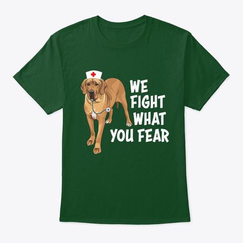 Nurse Great Dane Mom Fight Deep Forest T-Shirt Front