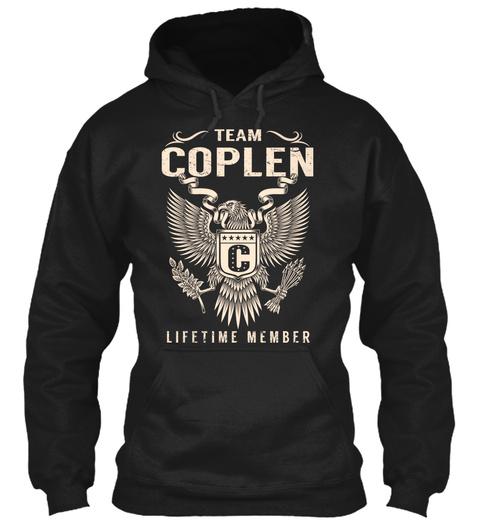 Team Coplen Lifetime Member Black T-Shirt Front