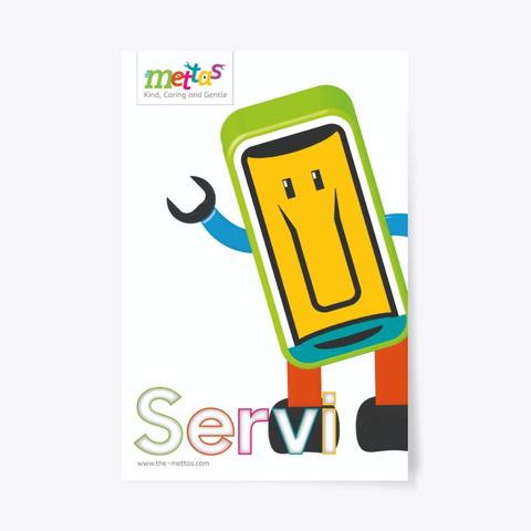 Servi – Mettas Character Poster Standard T-Shirt Front
