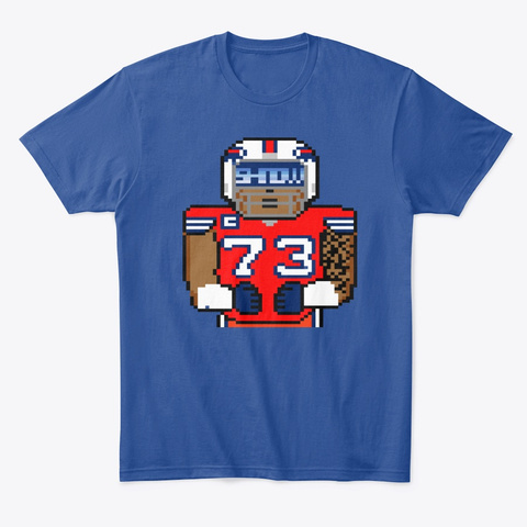 2 Receptions 2 Td's Deep Royal áo T-Shirt Front