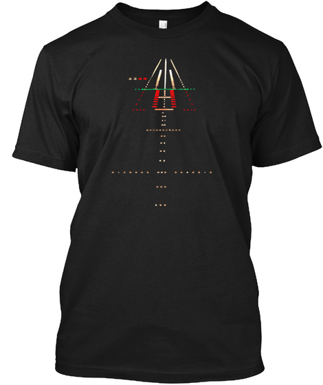 Runway  Night View Black T-Shirt Front