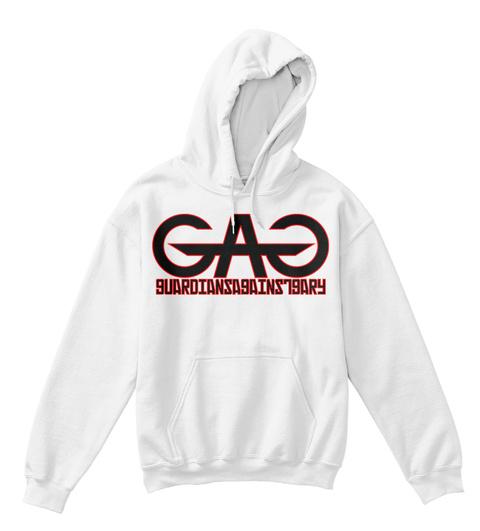 Gag Guardiansagainstgary White T-Shirt Front