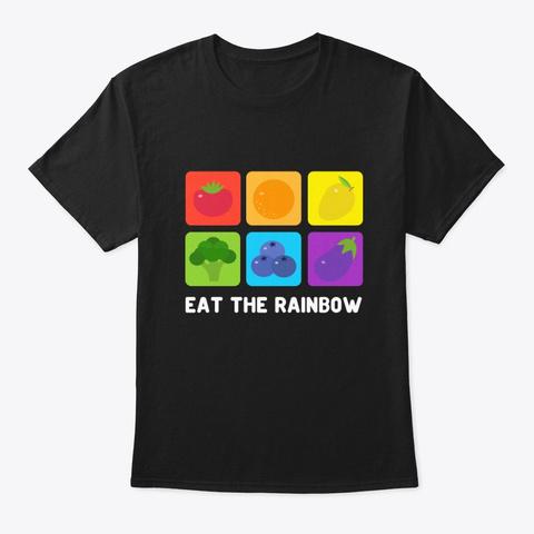 Vegetarian Vegan Shirt Eat The Black T-Shirt Front